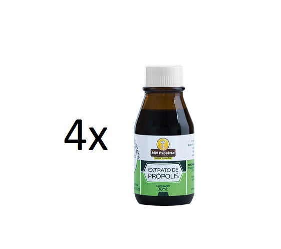 Lot of 4x30ml Brazilian Original Bee Propolis Extract Provitta - MN Propolis