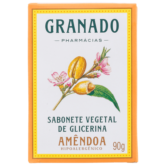 Granado Glycerin Soap Vegetable and Almond - Soap in Bar 90g