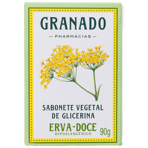 Granado Glycerin Soap Vegetable and fennel - Soap in Bar 90g