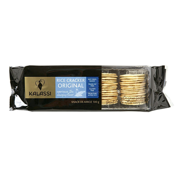 Biscoito KALASSI Salgado Rice Cracker Original 100g