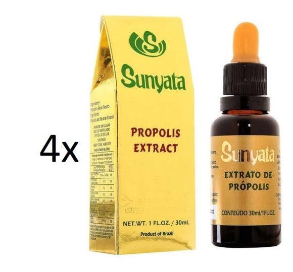 Lot of 4x30ml Sunyata Golden Bee Alcoholic Green Propolis Extract - Pon Lee