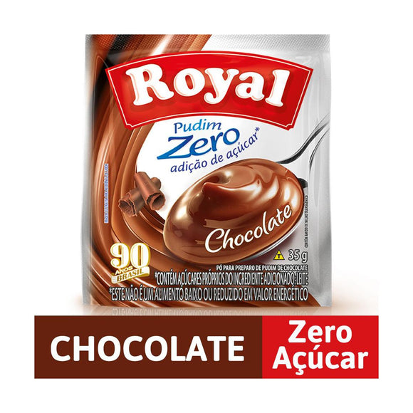 Pudim Zero Açúcar Sabor Chocolate ROYAL 35g