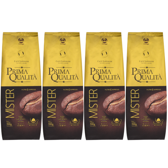 Roasted Coffee Beans 1kg QUALITÀ (Pack of 4)