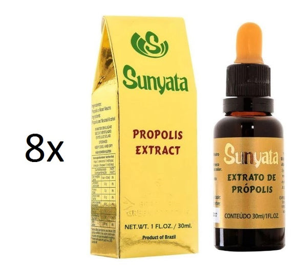 Lot of 8x30ml Sunyata Golden Bee Alcoholic Green Propolis Extract - Pon Lee