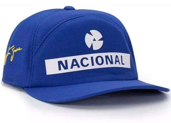 Ayrton Senna Blue Cap Official National Bank Formula 1 Replica Adult Cotton