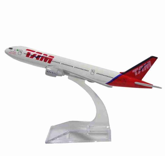 Original Commercial Airplane Tam Boeing 777 Miniature Collection Figure Art