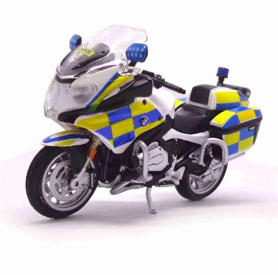 Bmw R 1200 RT Police Hong Kong 1:18 Burago Metal Motorcycle Miniature Collection