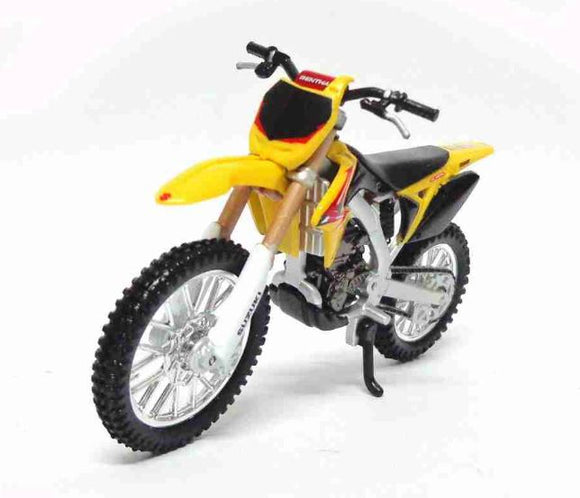Suzuki RM-Z450 1:18 Burago Metal Motorcycle Miniature Collection Figure Art