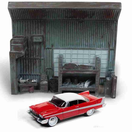Diorama Christine The Killer Car 1:64 Johnny Lightning Miniature Collection