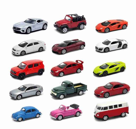 Collection Miniatures 15 Jeep Car Figure AMG VW Ford Audi 1:64 California Toys