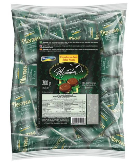 85 Chocolate Milk Pads of Mentinha Mint flavor Hazelnut 300g - Montevergine