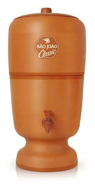 Brazilian Water Purifying Clay Filter Ceramic Sao Joao Classic Stéfani 8 Liters