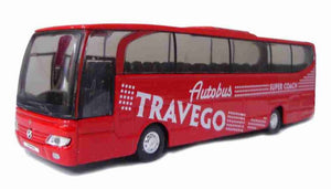 Bus Mercedes-Benz Travego 1:60 Welly Red Automotive Miniature Collection