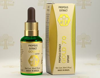 Brazilian Original Natural Immunity Green Propolis Gold 70 30ml - Wax Green