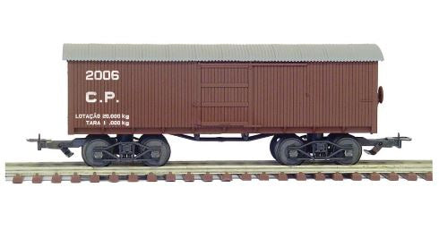 Old Closed Wagon Cia Paulista 2080 FRATESCHI Miniature Collection Vintage