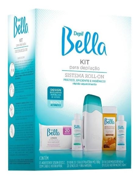 Depilatory Appliance Roll-On Bivolt System Kit Depil Bella Hair Removal Waxing