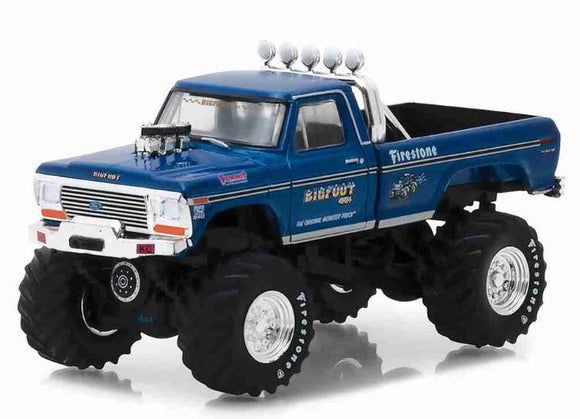 Original Brazilian cBigFoot Ford F-250 1974 1:64 Greenlight Collection Figure
