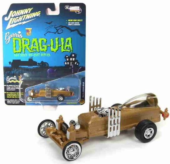 Dragula Barrels Monster Family 1:64 Johnny Lightning Car Miniature Collection