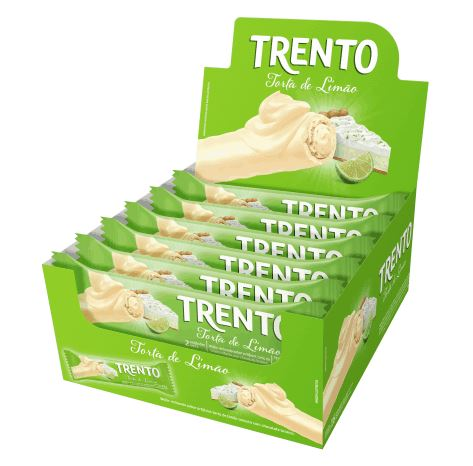 Brazilian Original Trento Waffer Lemon Pie White Chocolate 16 x 32g - Peccin