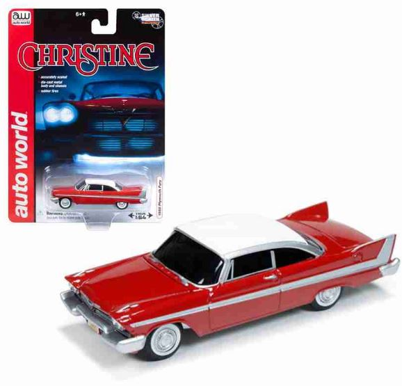 Christine Car Assassin Plymouth Fury 1958 1:64 Auto World Miniature Collection