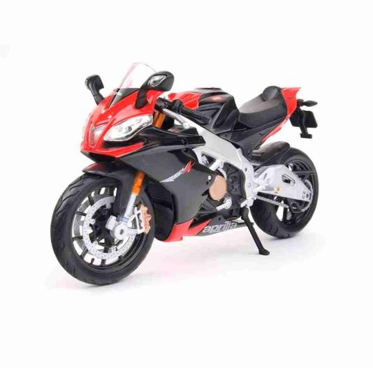 Aprilia Rsv4 Factory 1:12 Maisto Black Motorcycle Miniature Collection Figure