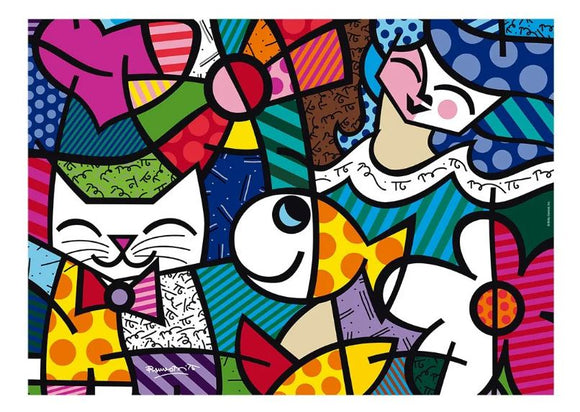 Orignal Brazilian Decoration Puzzle 1000 Pieces Romero Britto Happy Grow Jigsaw