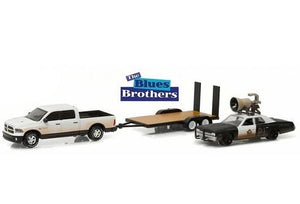 Blues Brothers Dodge Ram + Monaco + Trailer 1:64 Greenlight Miniature Collection