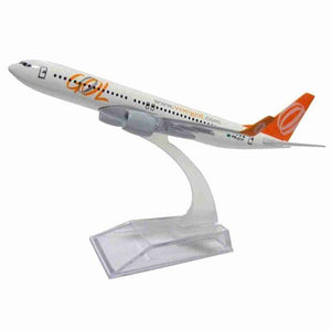 Original Gol Boeing 737 Metal Miniature Commercial Airplane Collection 16cm