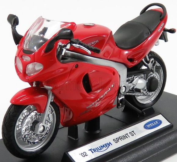 Triumph Sprint St 2002 1:18 Welly Metal Motorcycle Miniature Collection Figure
