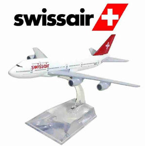 Swissair Boeing 747 Metal Miniature Commercial Plane Collection Figure Art