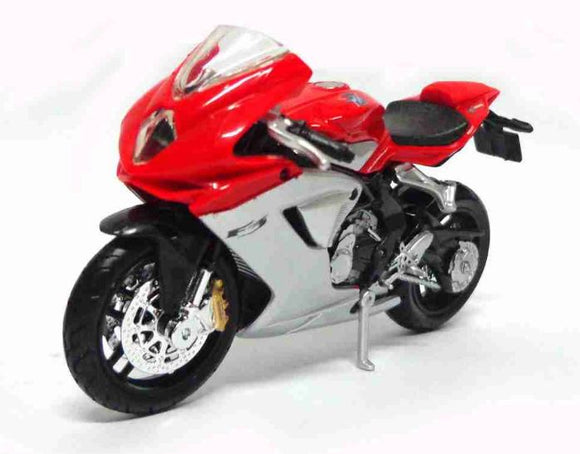 Mv Agusta F3 1:18 Burago Metal Motorcycle 11cm Miniature Collection Figure Art