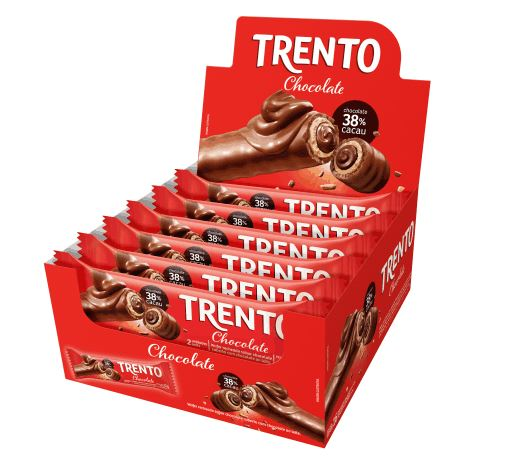 Brazilian Original Trditional Trento Waffer Chocolate Milk 16 x 32g - Peccin