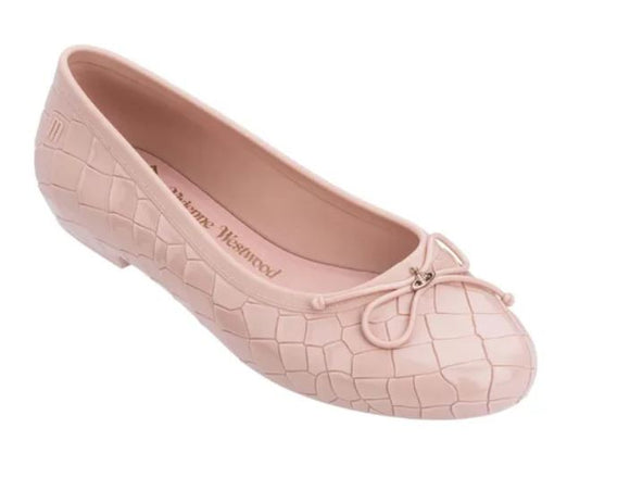 Melissa Vivienne Westwood Anglomania + Margot Ballerina Light Pink Slipper Shoe