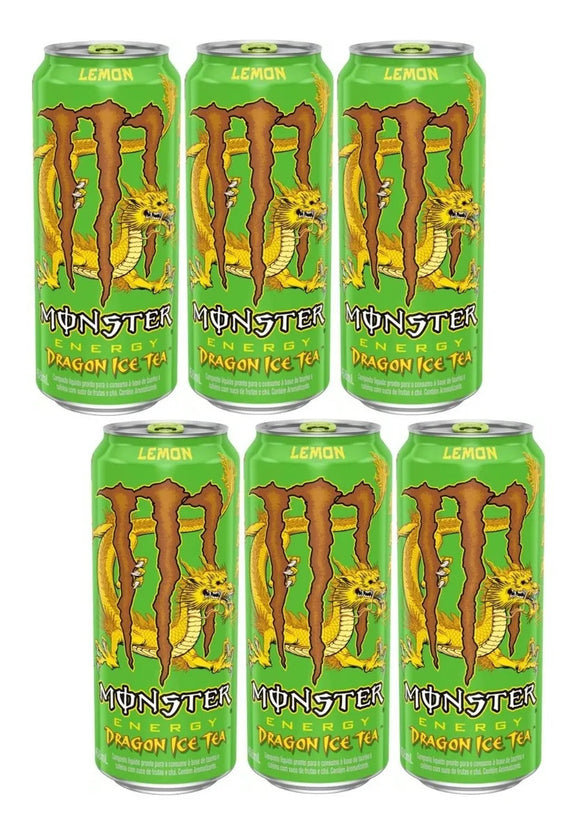 Monster Energy DRAGON ICE TEA Rare Brazilian version - 6 Pack