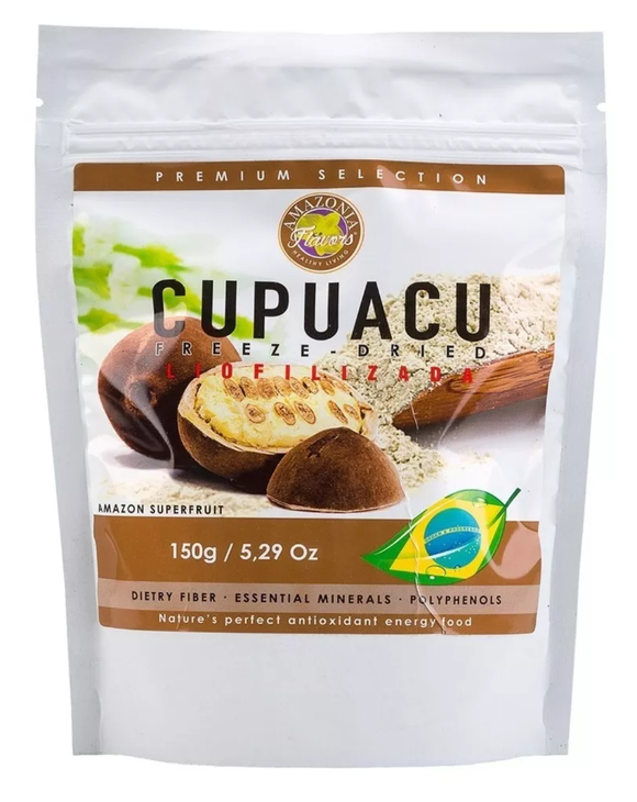 Brazilian Natural Premium Selection Fiber Powder Cupuaçu 150g - Sabor da Amazonia