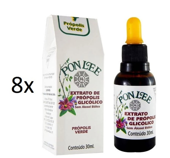 Lot of 8x30ml Original Glycolic Green Bee Propolis Extract No Alcohol - Pon Lee