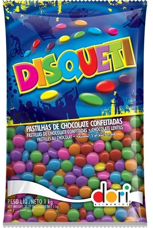 Brazilian Original Traditional Disqueti Chocolate Confection Lentils 1kg - Dori