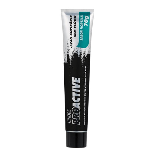 Brazilian Original Proactive Dental Gel Activated Carbon Toothpaste 70g - Hinode