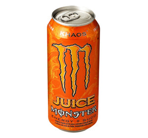 Brazilian Original Energy Drink Juice Citrus Orange Flavour Kaos 473ml - Monster