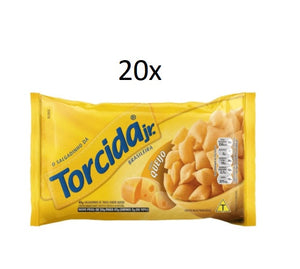 Lot of 20 Brazilian Elma Chips Wheat Cheese Flavor Snacks Torcida Package 45g