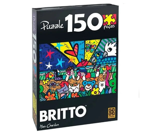 Original Brazilian Romero Britto Puzzle Mias Garden 150 Pcs Collectible - Grow