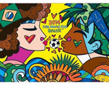Original Romero Britto Puzzle Fifa World Cup 2014 Collectible 1000 Pieces - Grow