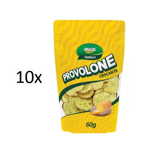 Lot of 10 Dehydrated Provolone Cheese Snack Appetizer 60g Brasil Frutt Brazil
