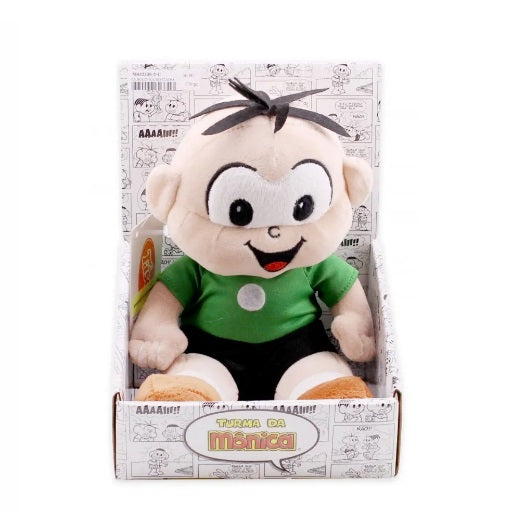 Tasco Plush Seated Cebolinha 25cm Original Turma Da Mônica Collectible Plush Toy