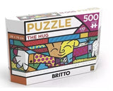 Brazilian Original Estrela Jigsaw Puzzle The Hug Panorama Romero Britto 500 pcs