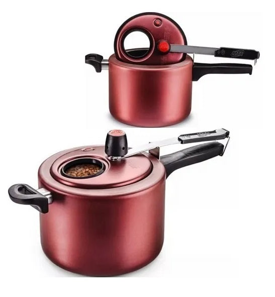 Aluminum Pan Cherry Pressure Cooker 4,5L with Display Non-Stick Coating - MTA