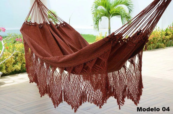 Brazilian Hammock Earth Luxury Pattern - 14 ft by 5 ft - 2 Person Luxury Handmade Woven Cotton