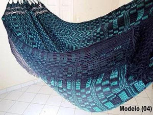 Brazilian Hammock Green Tartan Pattern - 13 ft by 5 ft - Premium Brazilian Handmade Woven Cotton