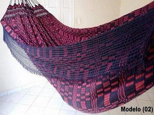 Double Hammock Red Tartan Pattern - 13 ft by 5 ft - Premium Brazilian Handmade Woven Cotton