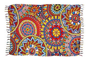 "Brazilian Canga Beach Towel Sarong 100% Viscose  Original - Fashion Mandala Colorful - 43"" x 69"" inches"